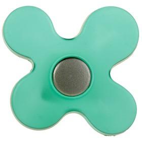 Ручка кнопка PLASTIC 002, пластиковая, зеленая Ош
