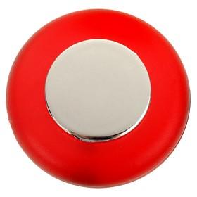 Ручка-кнопка PLASTIC 004, пластиковая, красная