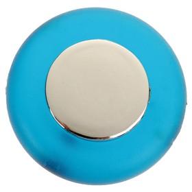 Ручка-кнопка PLASTIC 004, пластиковая, синяя