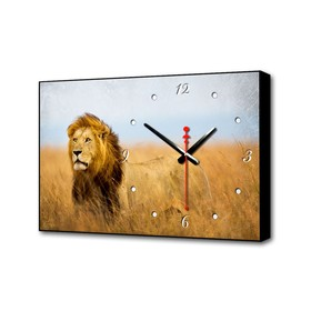 """Часы-картина """"Царь зверей"""", 57х35х4 см"""