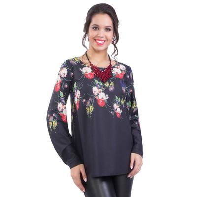 Блуза женская, размер 48, цвет чёрный М5-3393/8