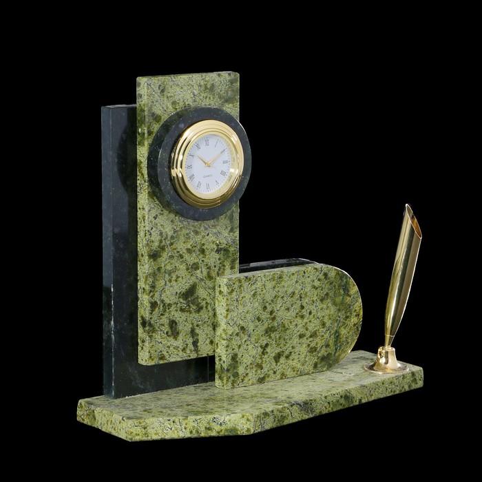 Визитница «Стелла»: подставка для ручки, часы