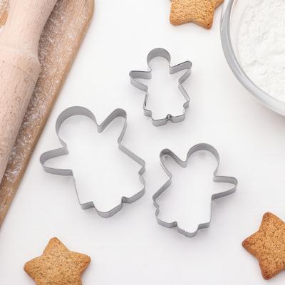 """Набор форм для вырезания печенья """"Баба"""", 3 шт"""