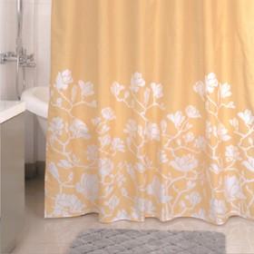 Штора для ванной комнаты 180х200 см, Beige Silhouette