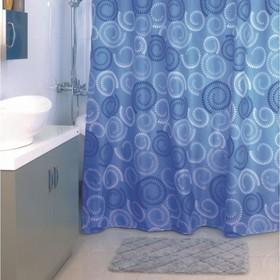 Штора для ванной комнаты 180х200 см, Ultramarine Dots
