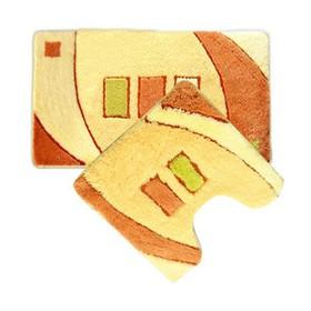 Набор ковриков для ванной комнаты 50х80, 50х50 см gold sands