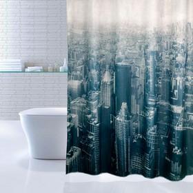 Штора для ванной комнаты 180х200 см Megapolis