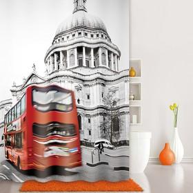 Штора для ванной комнаты 180х200 см London Spirits, Grey
