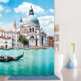 Штора для ванной комнаты 180х200 см Venice moments, Blue