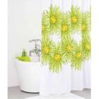 Штора для ванной комнаты 200х200 см green blossom