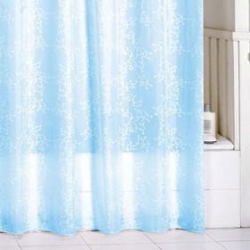 Штора для ванной комнаты 180х200 см blue leaf