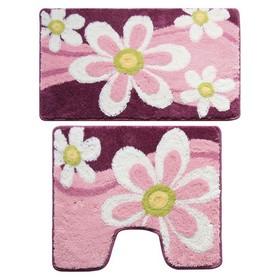 Набор ковриков для ванной комнаты 50х80, 50х50 см Merry Camomile