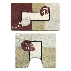 Набор ковриков для ванной комнаты 50х80, 50х50 см Late Autumn