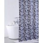 Штора для ванной комнаты 200х200 см, Flower Lace, grey