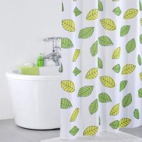 Штора для ванной комнаты 200х240 см bean leaf