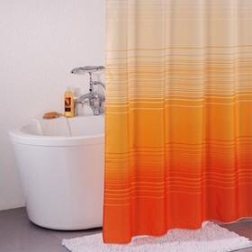 Штора для ванной комнаты 200х200 см, Orange Horizon