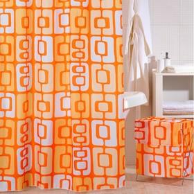 Штора для ванной комнаты 200х240 см orange toffee