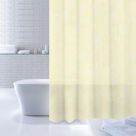 Штора для ванной комнаты 180х200 см Flower Bloom, White-Yellow