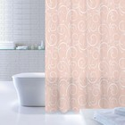 Штора для ванной комнаты 180х200 см Breeze Totem, White-Pink