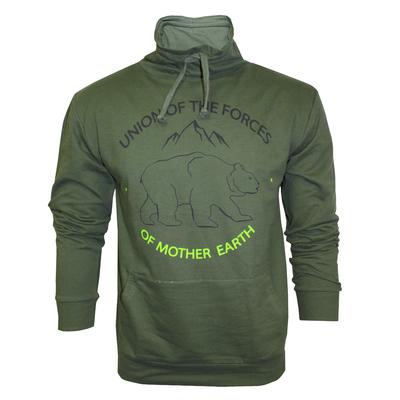 Толстовка мужская 60007 цвет зелёный, р-р 48