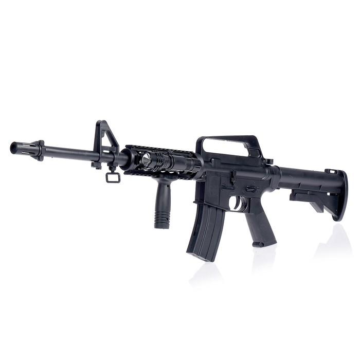 """Автомат пневматический """"Assault rifle M16-A4"""", с фонариком"""