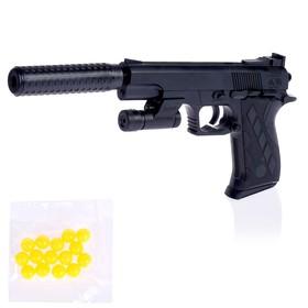 """Пистолет пневматический """"Агент"""", с глушителем, фонариком и лазером"""