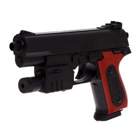 """Пистолет пневматический """"Классик"""", с фонариком и лазером"""