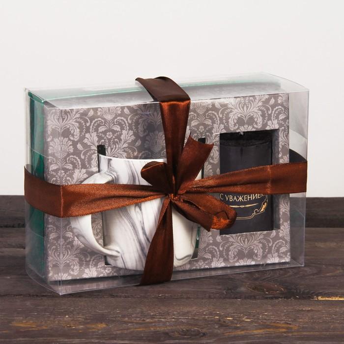 Набор подарочный «С уважением»: кружка 350 мл, свеча