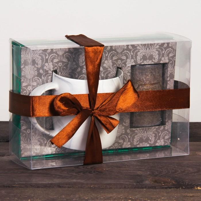 Набор подарочный «Счастья и благополучия»: кружка 350 мл, свеча
