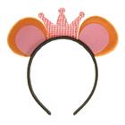 """Карнавальный ободок """"Мышка"""" с короной"""