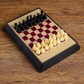 """Шахматы """"Флеш"""", (шахматы пластик на магните, поле 17х12 см)  микс"""