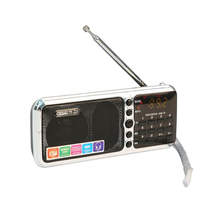 """Радиоприемник """"Сигнал РП-226"""", бат, 220V, акб 1100мА/ч, USB, SD, дисплей, фонарик"""