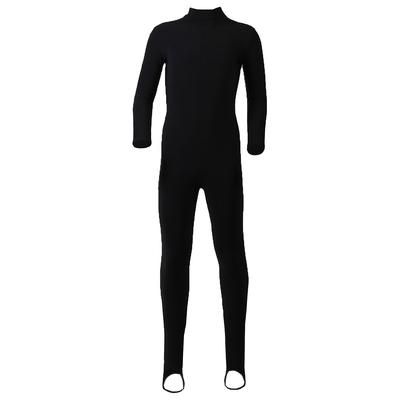 Комбинезон для фигурного катания, низ лосины, термобифлекс, размер 28, цвет чёрный