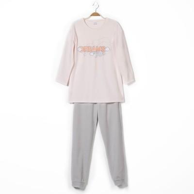 Комплект женский (джемпер, брюки), цвет светло-розовый, рост 158-164, размер 50