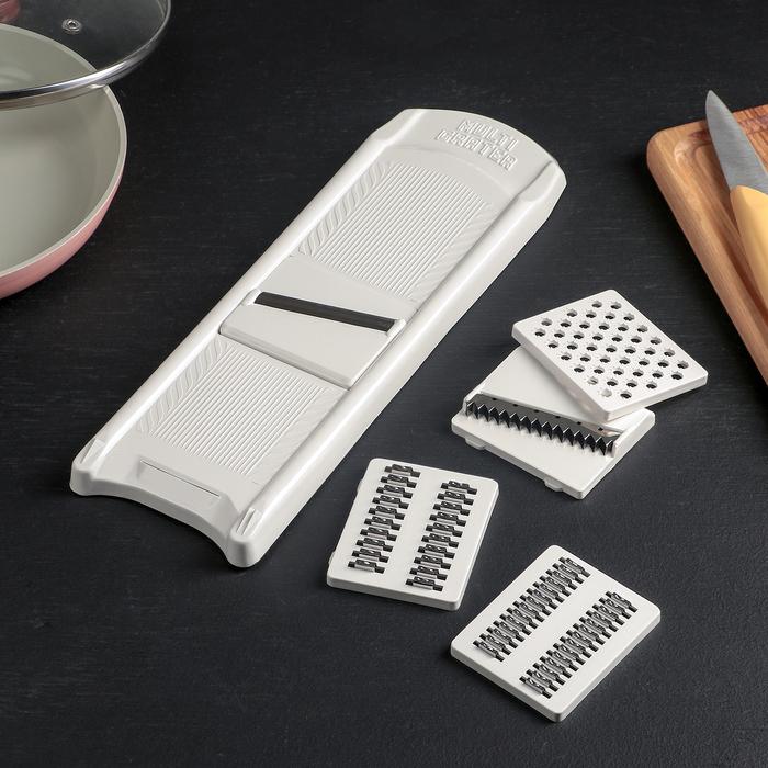 Овощерезка, 5 ножей, цвет белый
