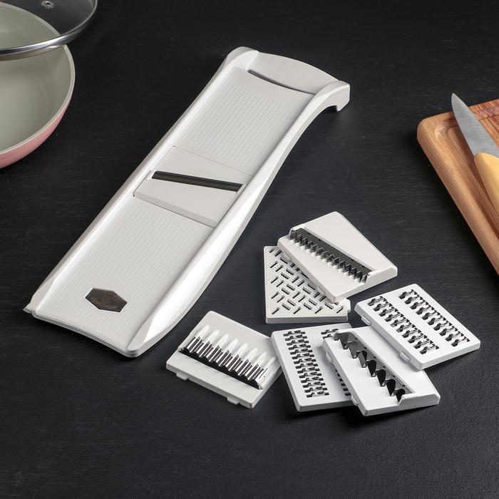 Овощерезка, 7 ножей, цвет белый