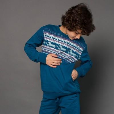 Джемпер для мальчика, рост 110 см, цвет синий 162-320-08