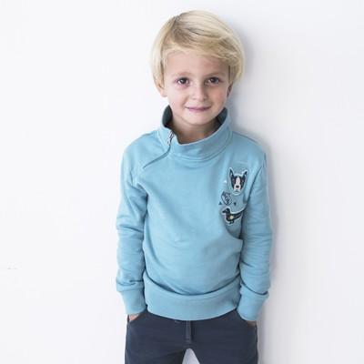 Джемпер для мальчика, рост 134 см, цвет голубой 162-321-07