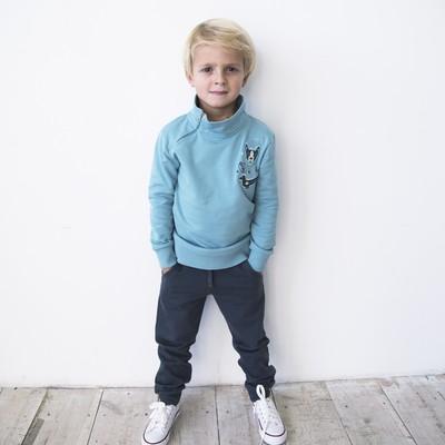 Брюки для мальчика, рост 98 см, цвет тёмно-серый 162-326-42