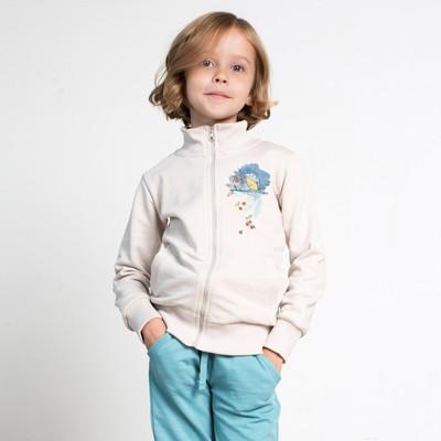 Жакет для девочки, рост 116 см, цвет серый 161-322-02