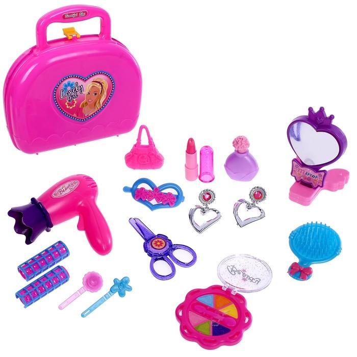Набор парикмахера в чемодане, 15 предметов, МИКС