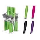 Столовый набор из 25 предметов Peterhof, ручки из цветного пластика