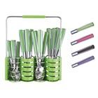 Столовый набор из 25 предметов Peterhof, ручки из цветного пластика, 6 персон, цвет МИКС