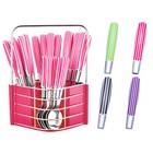 Столовый набор из 25 предметов Peterhof, ручки и подставка из цветного пластика
