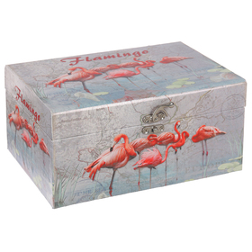 Casket box Flamingo 16x24x12 cm