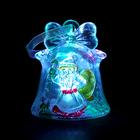 """УЦЕНКАИгрушка световая """"Колокольчик и Дед Мороз"""" (батарейки в комплекте), 1 LED, RGB"""