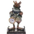 """Сувенир полистоун с часами """"Жабий король"""" 25х15,3х8 см"""