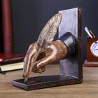 """Подставка-держатель для книг интерьерная """"Рука с ручкой-пером"""" 18х8х15,3 см"""