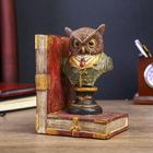 """Подставка-держатель для книг интерьерная """"Филин в мундире"""" 14,5х8,5х11,5 см"""