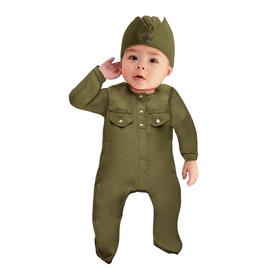 Карнавальный костюм «Солдатик-малышок», ползунки, пилотка, 6-9 месяцев, рост 75 см